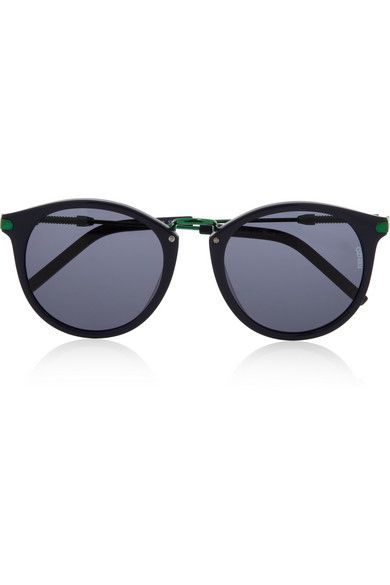 KENZO Round-frame acetate and metal sunglasses $260
