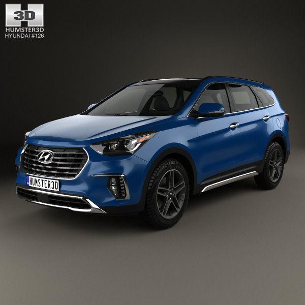 3D Model Of Hyundai Santa Fe (DM) 2017