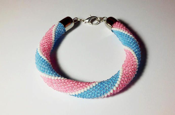 Delicate Bracelet Light Pink Bracelet For Girl Pink Jewelry Gift For