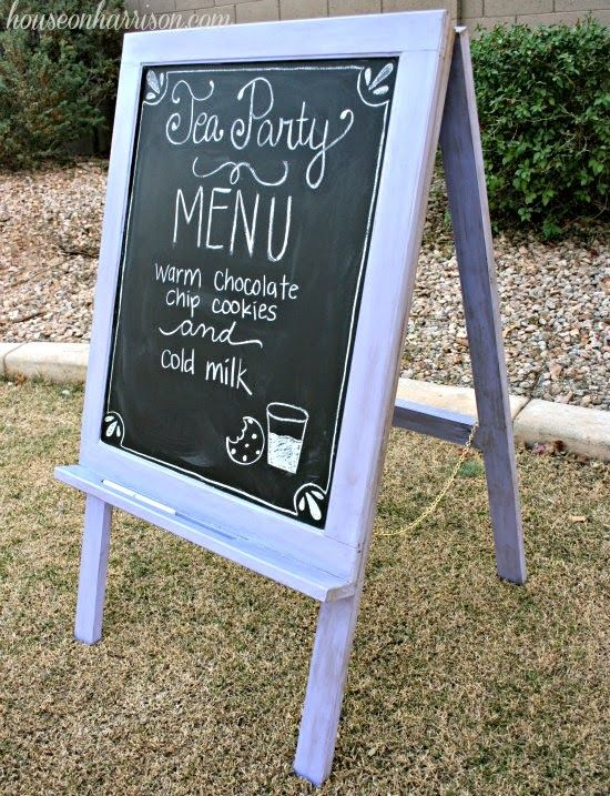 DIY Cabinet Door Easel by House on Harrison & Chalkboard Paint Tutorials | Diy cabinet doors Diy cabinets and ...