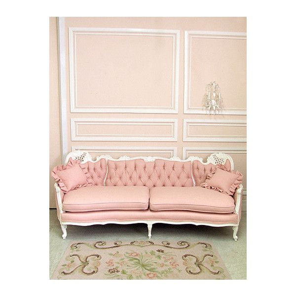 Reality Escapes Her Liked On Polyvore Featuring Pictures Backgrounds Photos Pink And Pics Pink Furniture Vintage Sofa Furniture