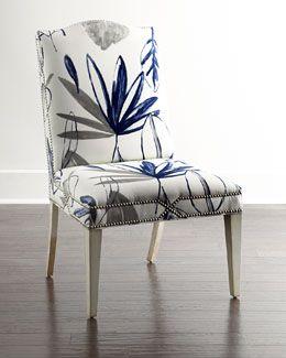 H799P Massoud Allison Botanical Dining Chair