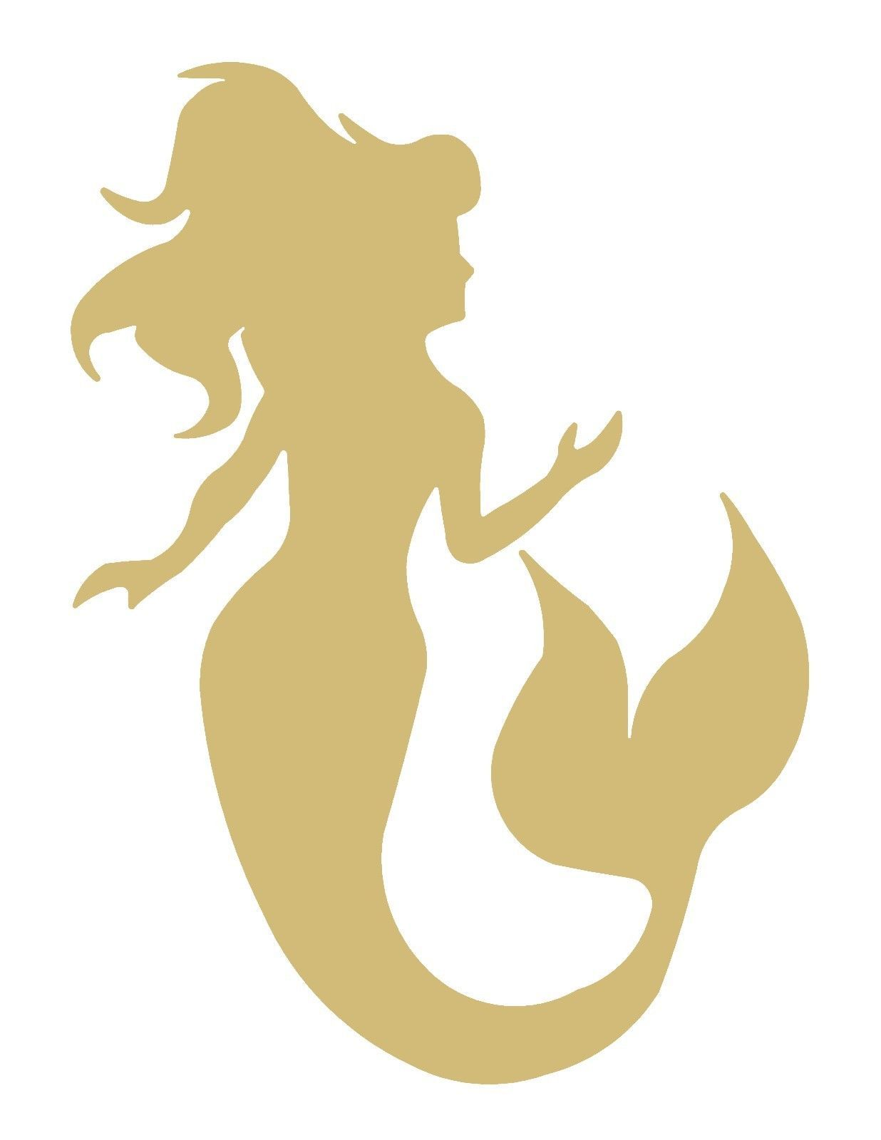 Ready to Paint Items 28128: Mermaid Style 10 Unfinished Mdf Wood ...