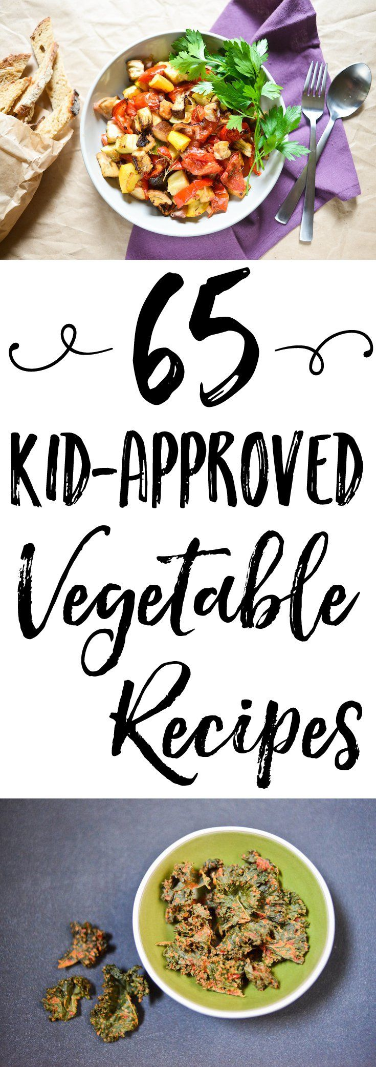 Need ideas and inspiration to get your children to eat more vegetables? This guide of 65 kid-friendly vegetable recipes is just what you need!