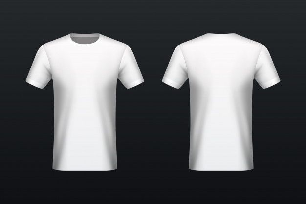 Download Front And Back White T Shirt Mockup T Shirt Design Template Tshirt Mockup Free Shirt Print Design