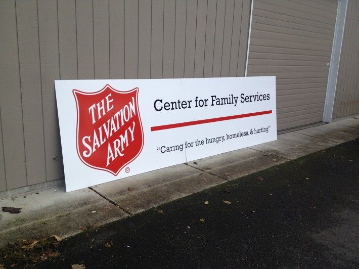 Custom sign for the salvation army vancouver wa