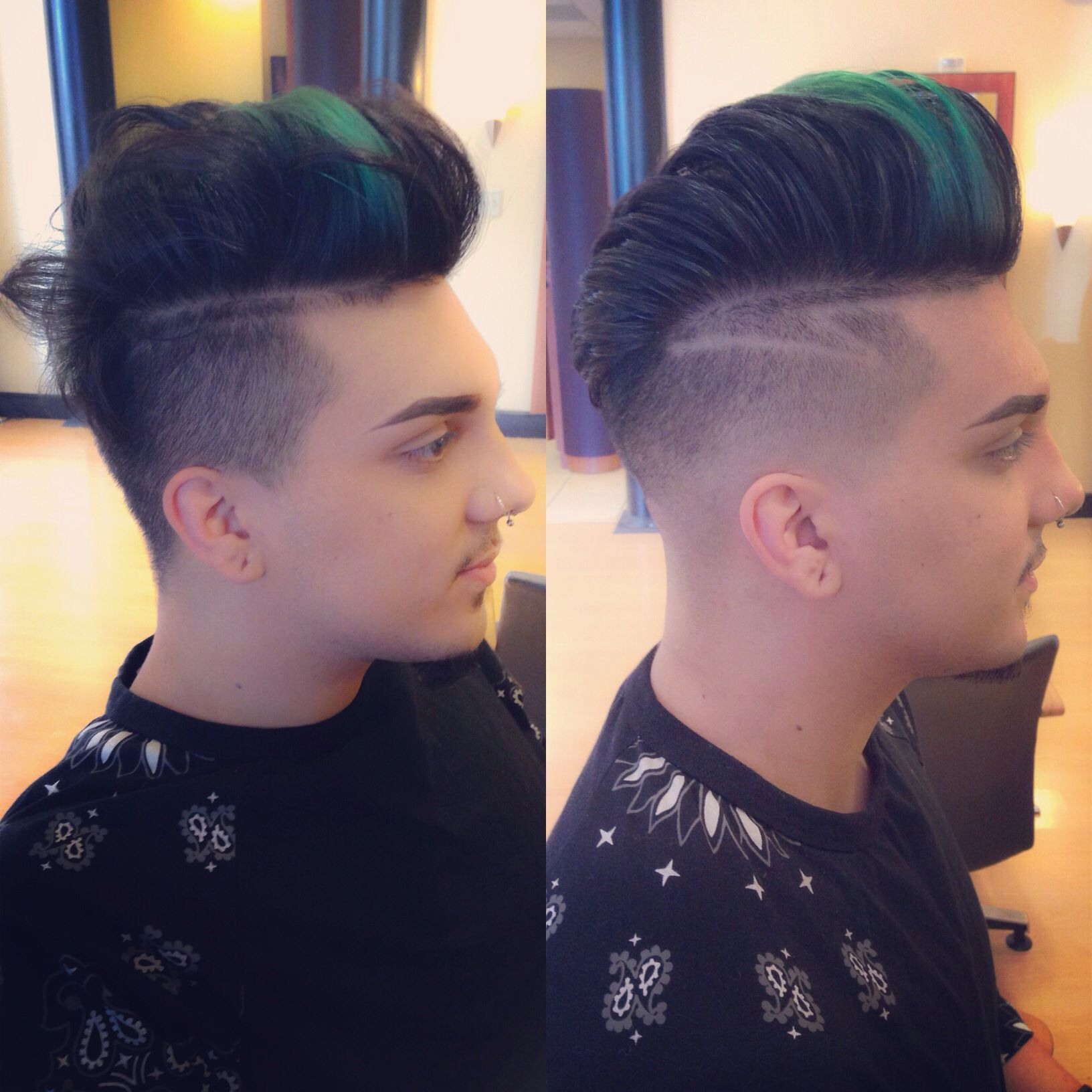 Before and after menus fade with a pompadour haircut pinterest