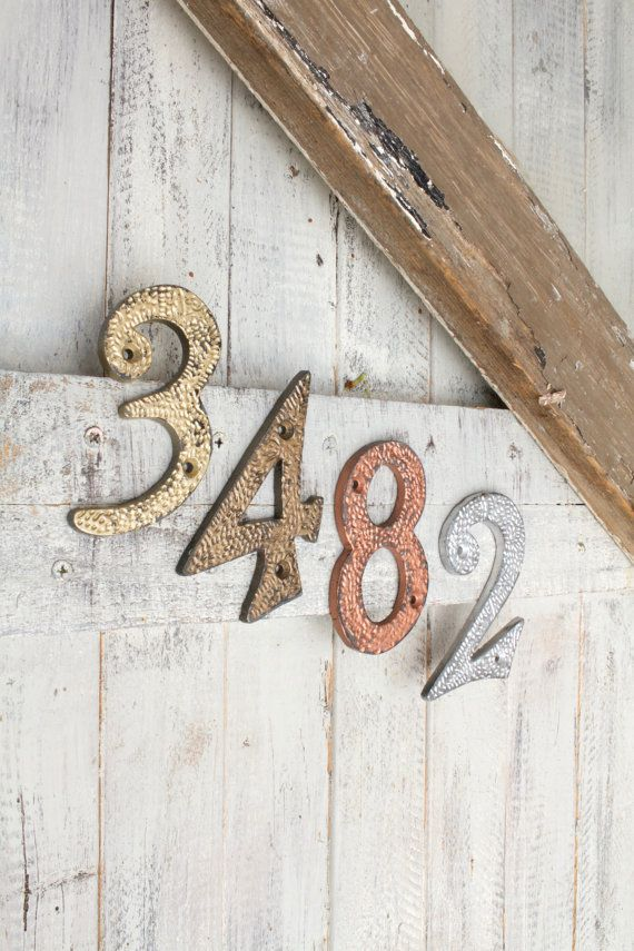 House Numbers Address Metal Rustic Home Decor Copper Sign Apartment