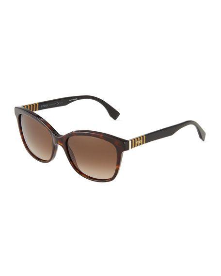 8f175168894 FENDI Pequin Striped-Temple Sunglasses