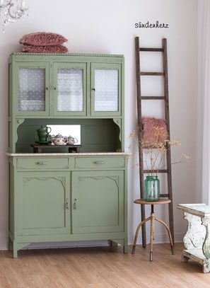 shabby chic schrank buffetschrank antiker k chenschrank green and turquoise shabby in 2019. Black Bedroom Furniture Sets. Home Design Ideas