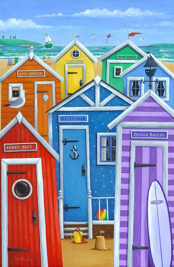 Rainbow Beach Huts Art