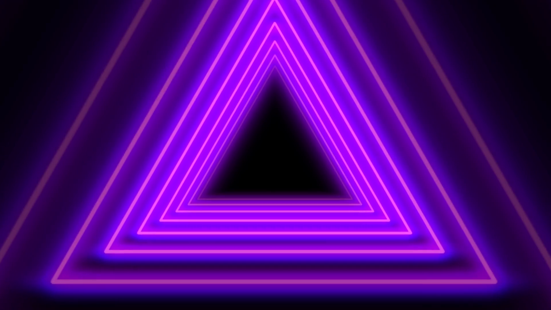 Beautiful Purple Neon Abstract Triangle Tunnel Seamless