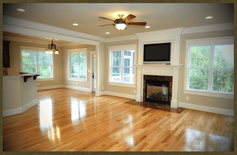 Wall color with oak floor fresh rustic craftsman home for Oak floor colors