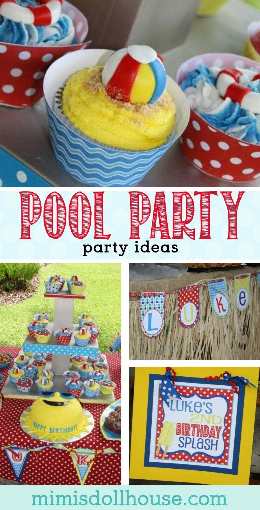 Looking For Some Fun Pool Party Ideas This Post Is Full Of Pool Party Decorations And Pool Party Bir Pool Party Kids Pool Party Decorations Pool Party Themes