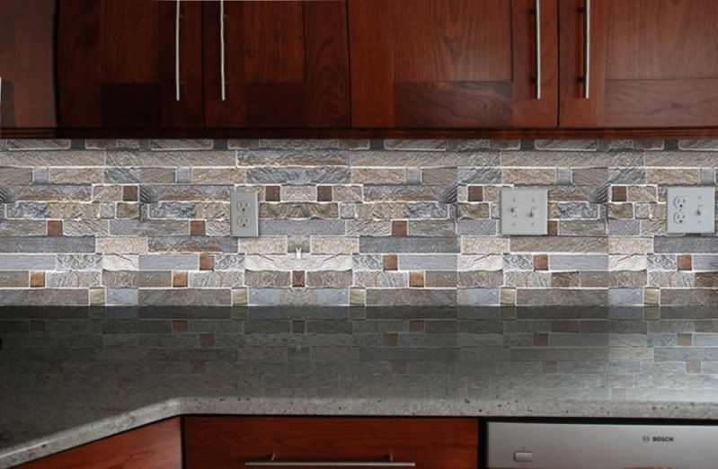 Cheap Back Splash Tiles For Kitchen Fire And Ice Brick Tile Backsplash Kitchens Pinterest