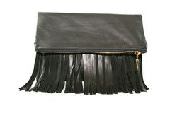 ~ C.Blau Leather Over-sized Fringe Clutch | Corby ~