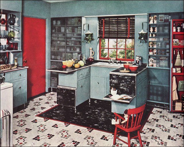 1940s Mid Century Kitchens Design Inspiration 1949 Armstrong