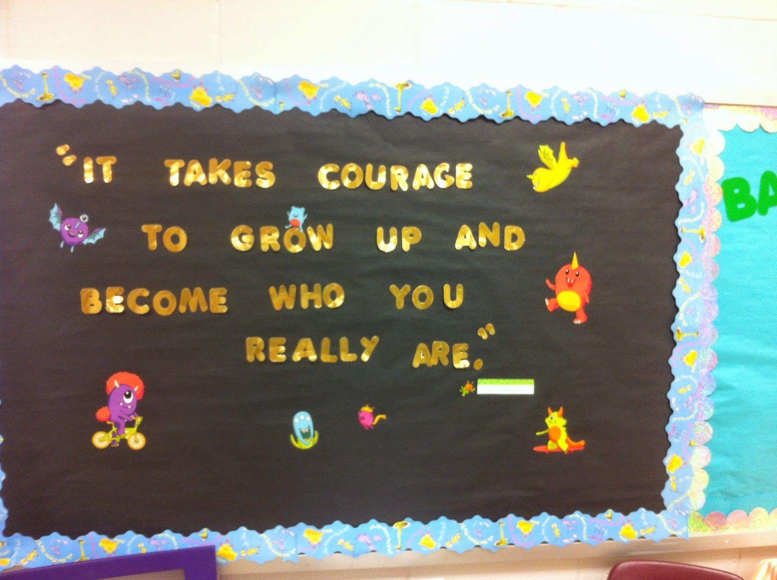 Middle School Quote Bulletin Board 8th Grade Ela