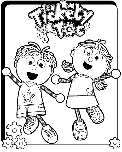 Ticky Tock Watch Coloring Page - Get Coloring Pages | 578x467