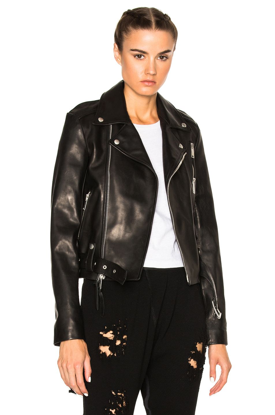 3fc42abaa7a UNRAVEL Leather Lace Up Biker Jacket.  unravel  cloth