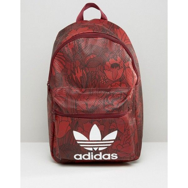 adidas Originals Floral Print Backpack With Trefoil Logo ( 44) ❤ liked on  Polyvore featuring bags 1c92dd2fe4a04