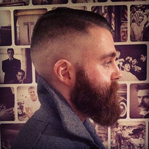 High and tight with a natural looking beard. Great ...