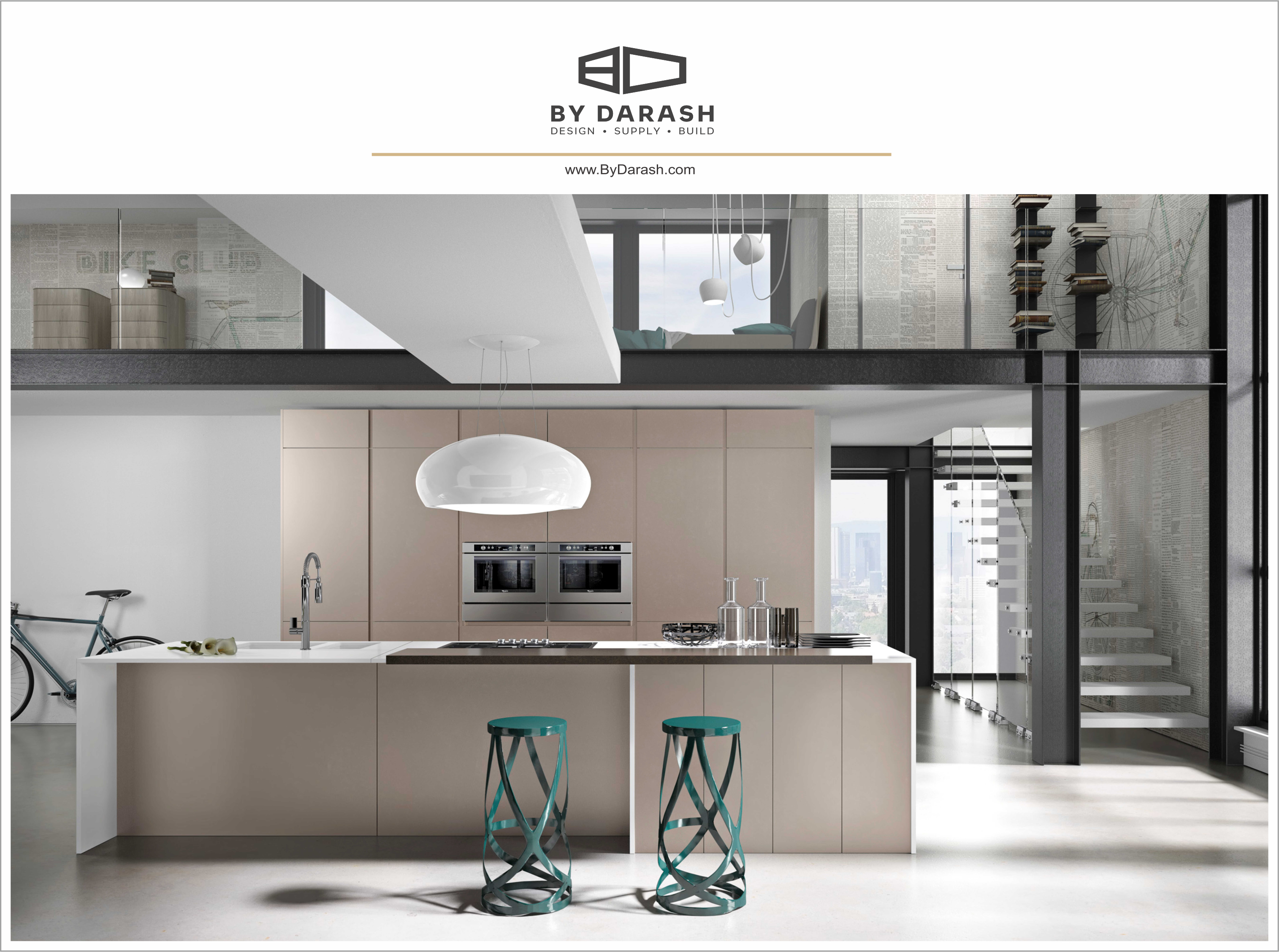 An open floor plan is the secret ingredient to a contemporary kitchen. Sold @bydarash