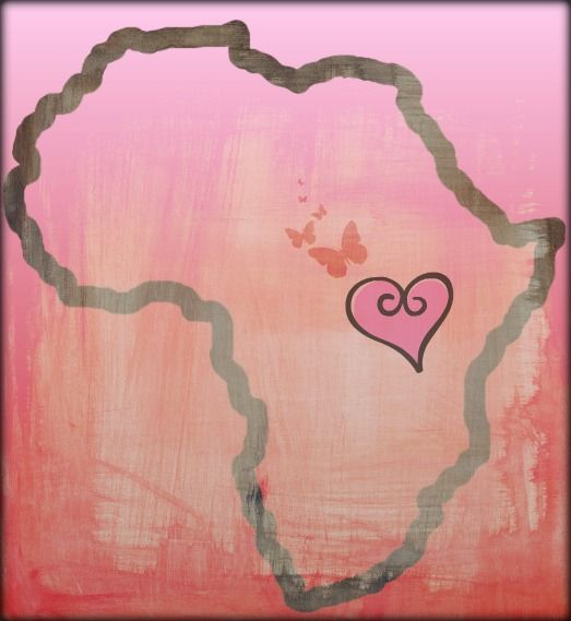 Pretty Pink Uganda Heart