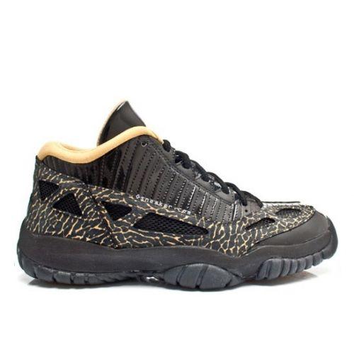 546fc827df3d4 Air Jordan 11 SE Low Black Gold 316318-071