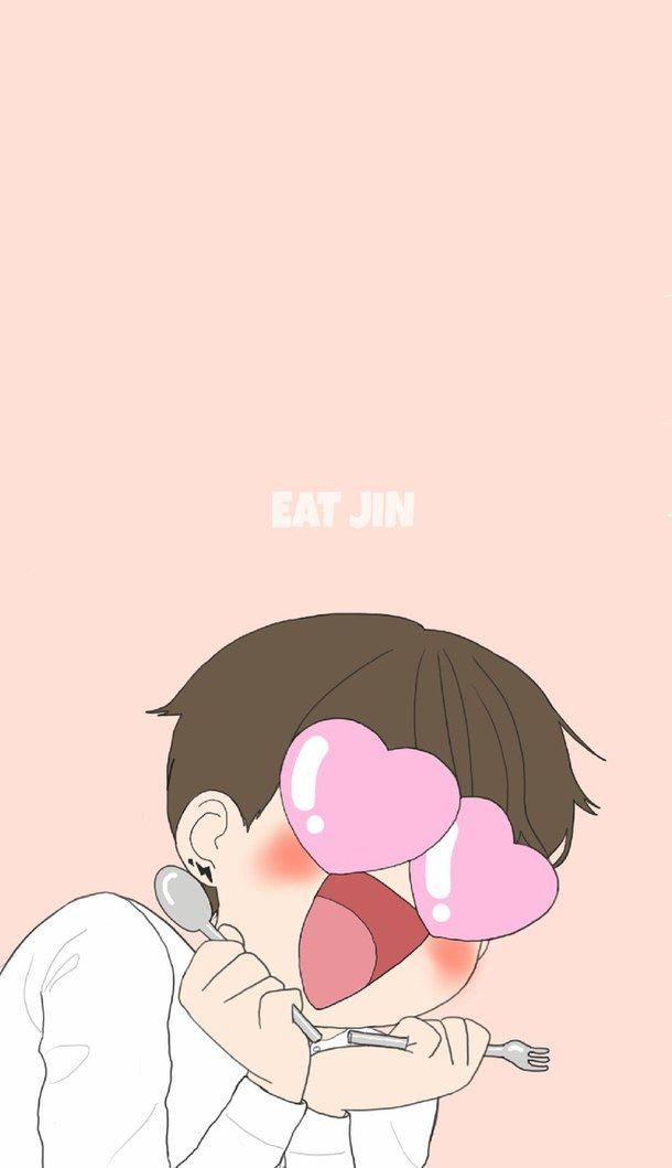 Bts Cute Fanart Funny Jin Kpop Wallpaper Kim Seok Jin