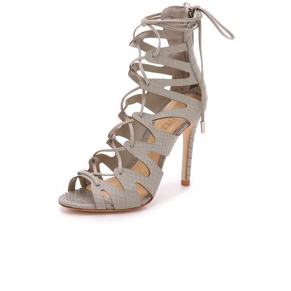 Schutz Nadia Sandals (11,440 PHP) ❤ liked on Polyvore featuring shoes, sandals, ciment, schutz footwear, schutz, zig zag shoes, zigzag shoes and genuine leather shoes