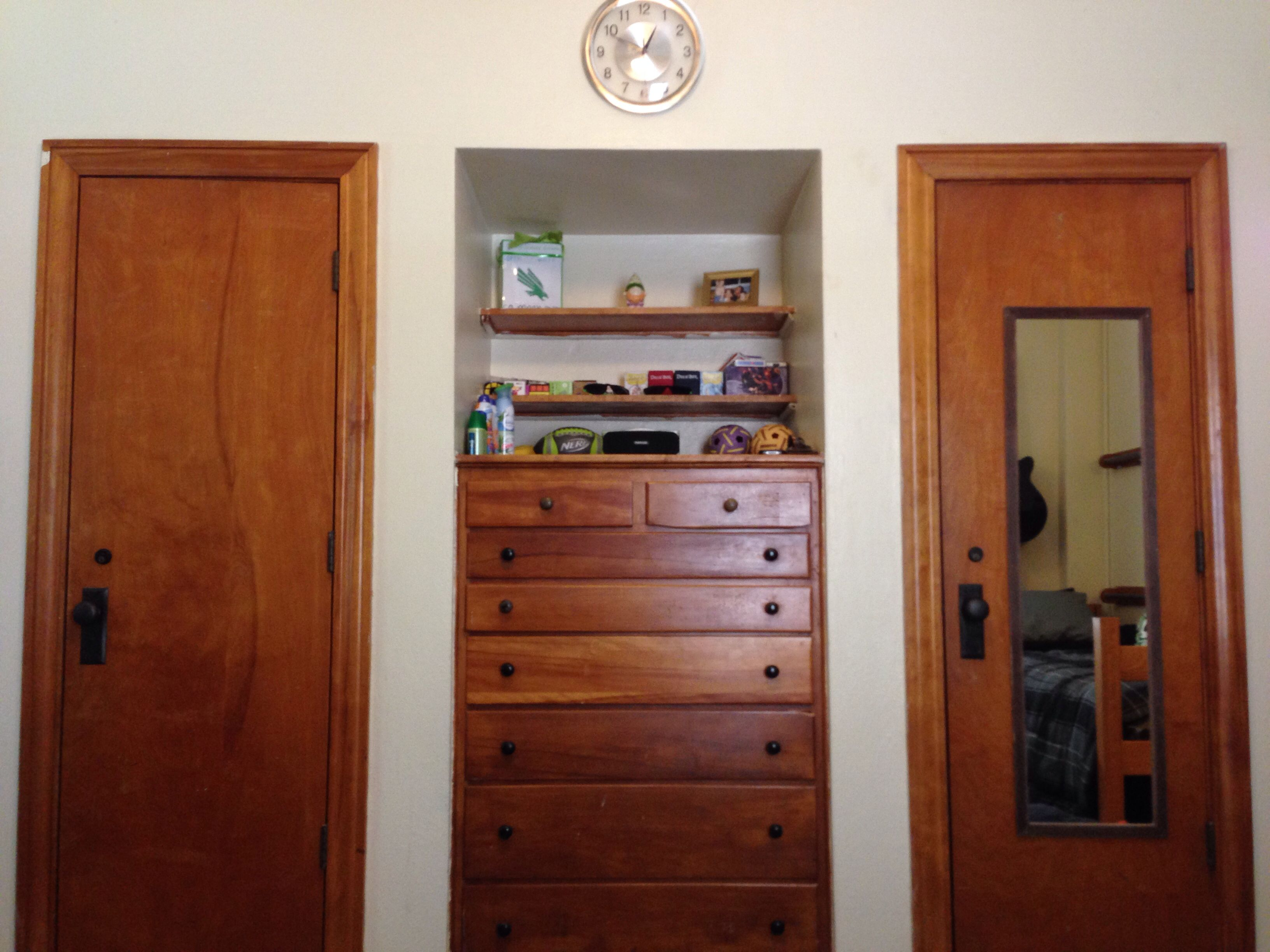 Bruce Hall It May Be The Oldest Dorm Room On The Unt Campus But It Has The Coolest Built In Cabinetry College Dorm Diy Dorm Diy Dorm Sweet Dorm