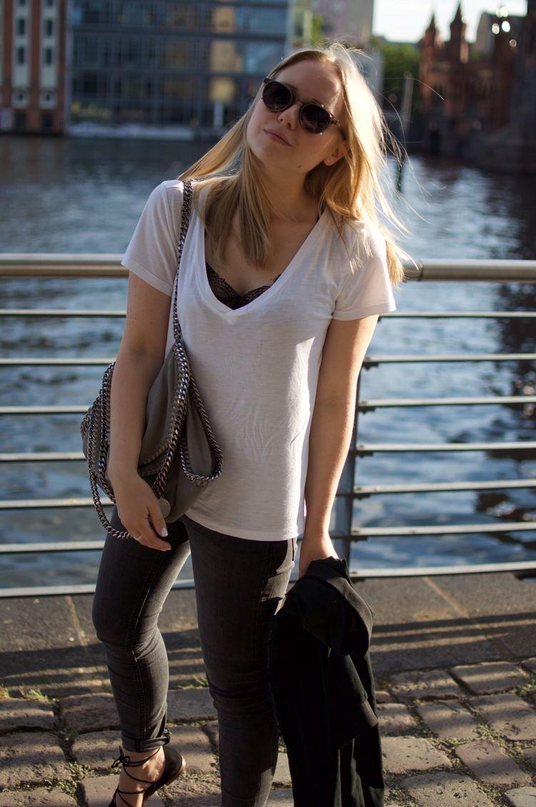 590326b92ec2 White T-Shirt   Lace Top
