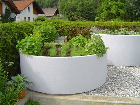 Raised Beds Made Of Concrete Garten Hochbeet Garten Garten Pflanzen