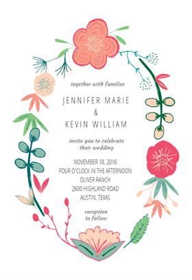 Spring flowers printable invitation template customize add text spring flowers printable invitation template customize add text and photos print or download for free mightylinksfo