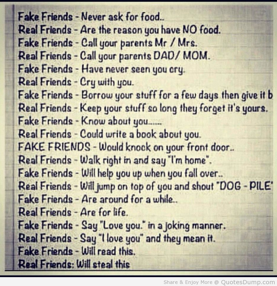 Real Friends Vs Fake Friends Quote Fake Friends Fake Friend Quotes Real Friends
