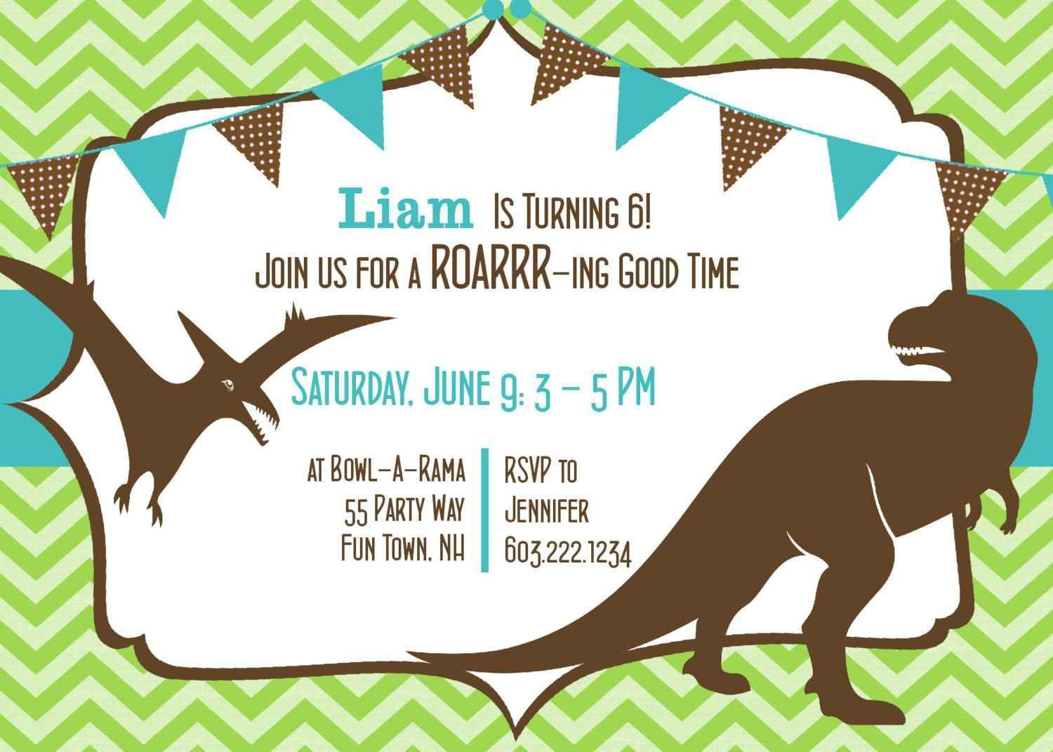 birthday invitation dinosaur birthday invitations Free