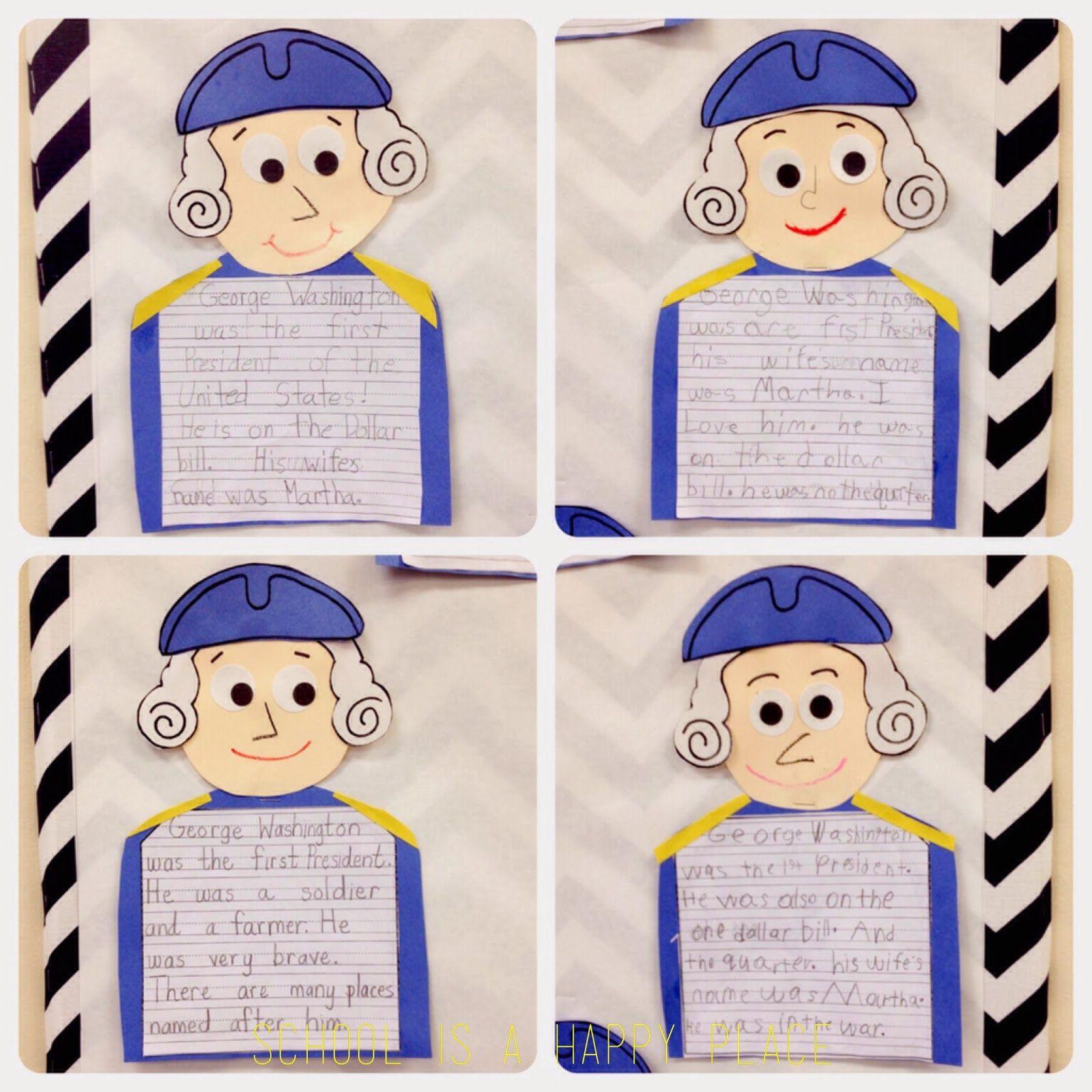 Free George Washington Writing And Craftivity Pattern