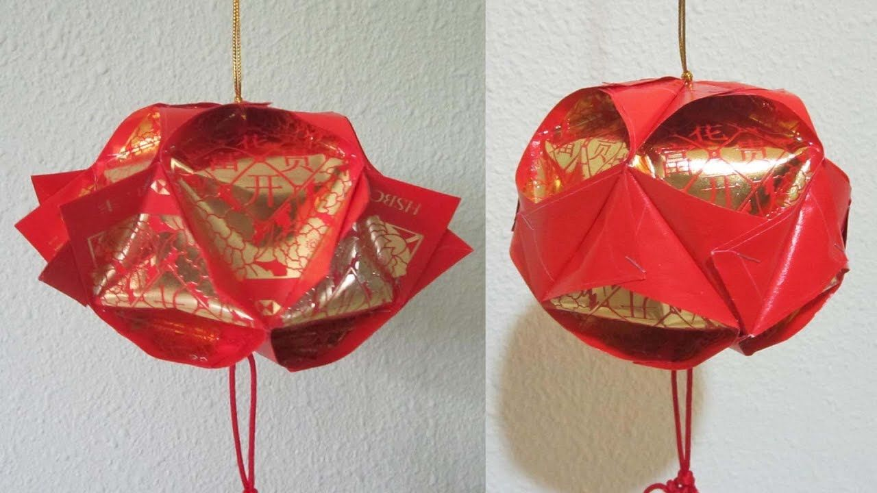 Cny Tutorial No 71 10 Piece Hongbao Lantern Youtube Ornament Tutorial Chinese New Year Crafts Lanterns