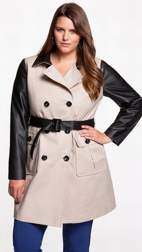 Фото верхней модной одежды для полных: фасоны пальто и ...