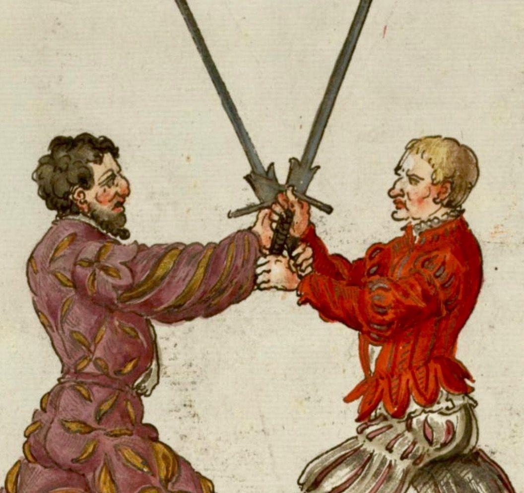 Breaking the opponent's sword grip using the pommel. | Historical european  martial arts, Karate martial arts, Art