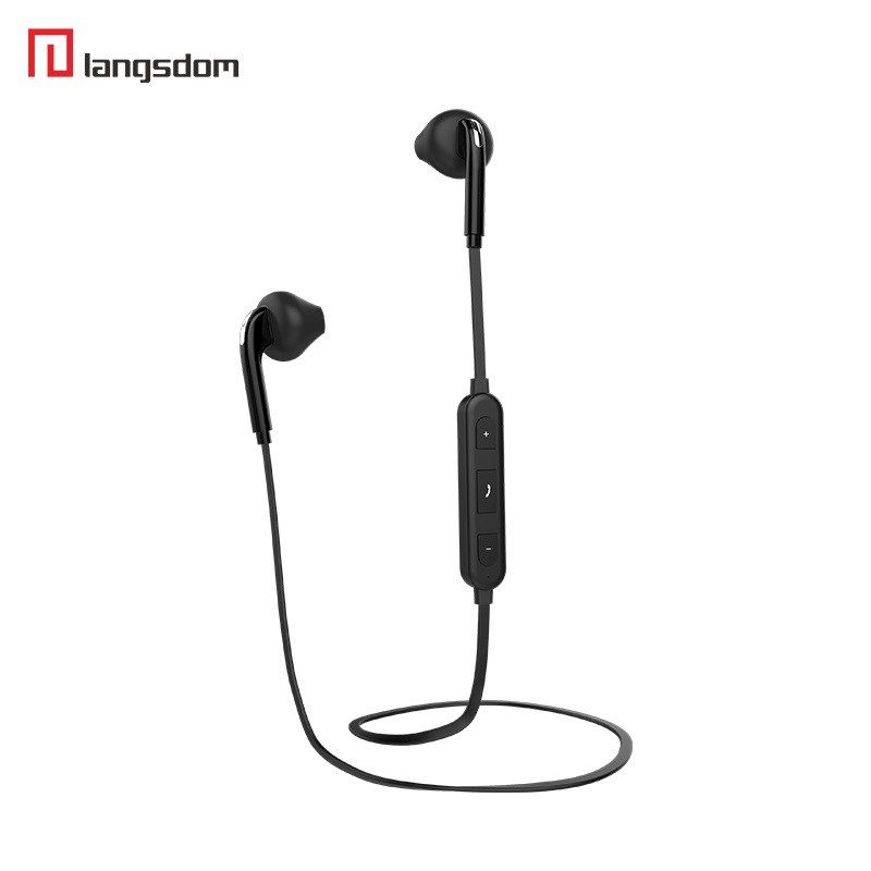 6ed9ff6f887 Cheap Langsdom BS6 sports Bluetooth Earphone super Bass Stereo Earbuds with Mic  auriculares for iPhone 6 6s xiaomi huawei Samsung