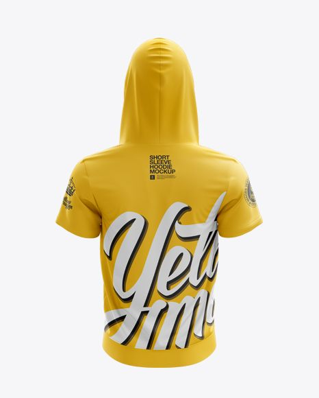 Download Short Sleeve Zip Hoodie Mockup Back View In Apparel Mockups On Yellow Images Object Mockups Hoodie Mockup Design Mockup Free Clothing Mockup