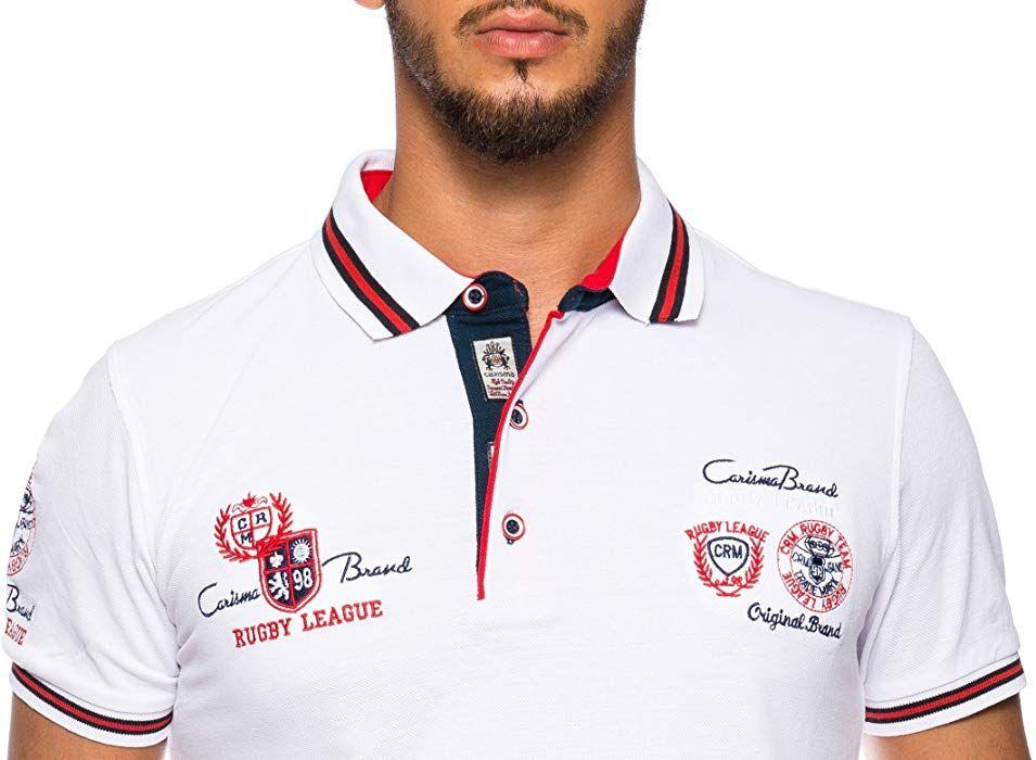 Carisma Herren Polo Shirt Mit Stickerei Weiss L Amazon De Bekleidung Shirts Polo Poloshirt
