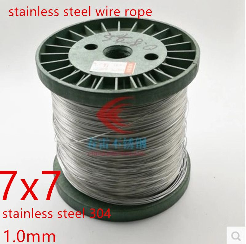 50 Meters 1 0mm 7 7 Wire Rope Stainless Steel Cable Seaworthy 100 Marine Grade Stainless Steel Wire Stainless Steel Cable Stainless Steel
