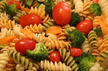 Mmmm. Pasta salad. Such a summer time staple.