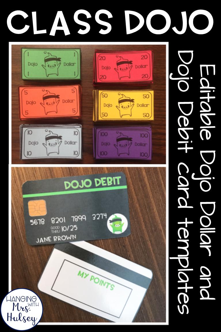 Class Dojo: Dollars and Debit Card Template (Editable) | Classroom ...