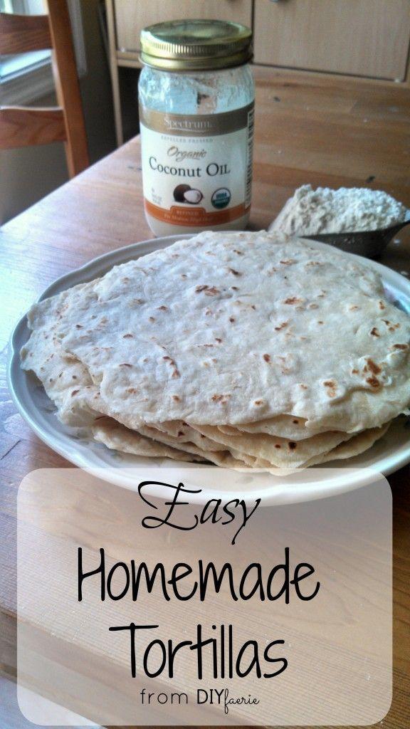 Easy Homemade Tortillas | DIYfaerie
