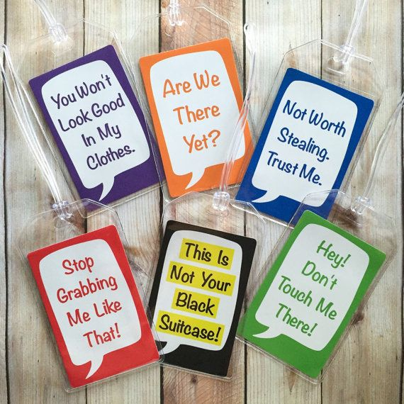 e5180c066d7f Funny Luggage Tag Travel Accessories by ArtfulCreationsByDeb | ☆ LA ...