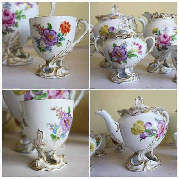 Fraureuth Tea service from the 19th century by MyVintagePorcelain